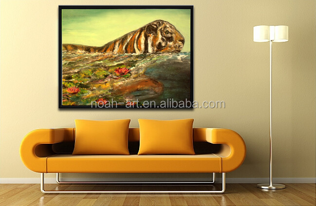 2016 cheap canvas modern artwork tiger paintings for living room view