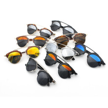 275 ewjdl 2015 new round frame D home fashion wild cat's eye sunglasses non-mainstream glasses sunglasses for men and women