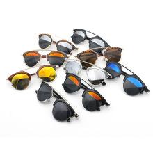 ewjdl 2015 new round frame D home fashion wild cat's eye sunglasses non-mainstream glasses sunglasses for men and women