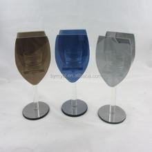 2015 wine glass holder,wine bottle candle holder insert,wine glass holder 100