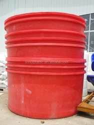 5ton round strong food grade PE storage tank /fish tank for fish farm