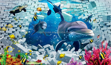 beautiful 3D wall murals for children