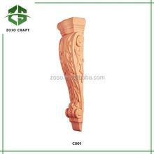 talladas a mano ménsulas decorativas de madera para muebles para el hogar