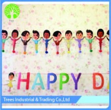 happy birthday banner of paper decorations for festival party design