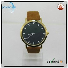 2015 japan movt genuine leather handmade leather watch strap top quality 10 atm watch