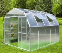 Freesky waterproof, anti rot aluminum profile plastic garden used greenhouses for sale