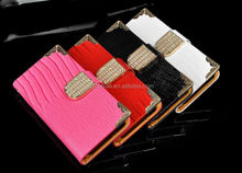 2014 Fashion and Luxury Style for iPhone 6 Glitter Diamond Leather Wallet case