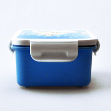 Back to school kids plastic lunch box double layer with water bottle