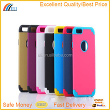 pc+silicon Material hybrid case for iphone 6,silicone case for iphone 6