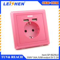 Electrical wall Russia style socket CE & ROHS china supplier Easy installation safety operation, long working life