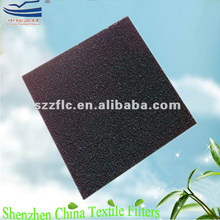 Non-woven fabric compounded with active carbon for air filters