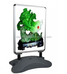 Buy direct from china factory the double side advertising board,advertising stand with waterbase,stable stand