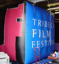 Custom giant inflatable helium cube model with logo printing