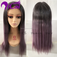 wholesale 1b T purple human hair wig lace front wig natural hairline brazilian virgin remy human hair purple full lace wig