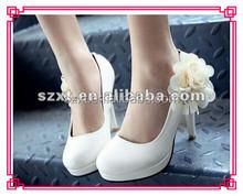 white pump korean platform ivory wedding shoes