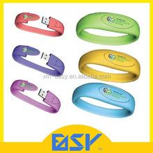 Customized logo wrist usb flash memory