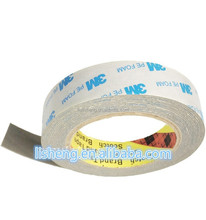 Wholesale die cut Double sided adhesive PE foam mounting tape 3M 1600T, white color, 1.0mm thickness
