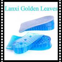 2 layers Silicone Gel Height Increase Insole cotton designer shoe insoles