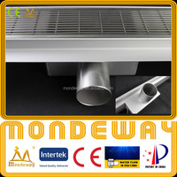 Hot pattern SS304 linear drain for European market length 700mm LUXURY SHINING or BRUSHED FACE shower base