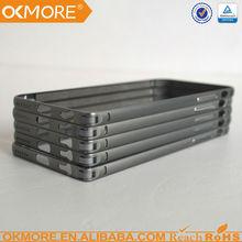 Free sample 6063 aluminum bicolor full diamond metal bumper case for iphone