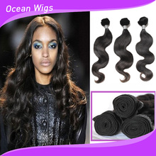 Unprocessed Brazilian Virgin Hair Extentions More Wave 3 bundles Lot 100% Full Cuticle Virgin Human Hair Weave Hair Products