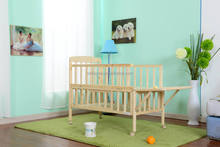 hot sale portable pine baby bed - hot selling model with wheels