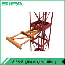 Adhesive lifting scaffolding for Construction elevator
