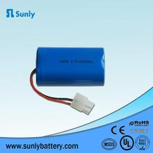 OEM 3.7V 5200mah li ion 18650 battery pack 3.7V 1S2P rechargeable battery