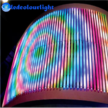 Ledcolourlight DMX controller 3D effect 16pixel 32pcs led digital outdoor tube light/ad screen tube light