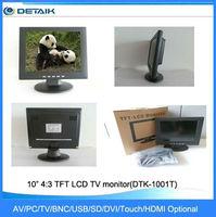 DTK-1001T 10 inch 4:3 TFT AV/PC/TV LCD monitor