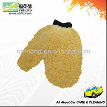 Soft Synthetic Wool Wash Mitt With Hand Shape