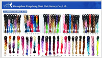Sirui Two Tone 100% High Temperature Synthetic FiberJumbo Braid Hair, Super X Braid Hair