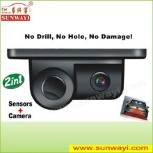 New products 2in1 mini camera video ultrasonic rear view parking sensor