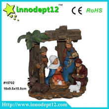 Handmade Christmas crib led light antique native american nativity sets for 2016