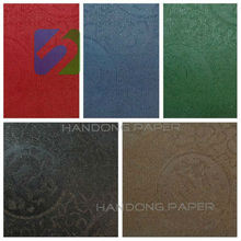 Fashionable imitation leather pvc binding paper single color
