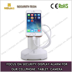 Alarm acrylic anti theft smart phone holder