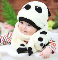 China bear winter cartoon hats set baby fleece hat scarf series