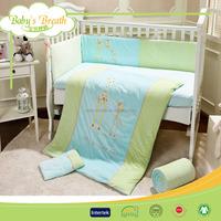BBS021 microfiber fabric printed baby bedding crib sets, queen luxury bedding set