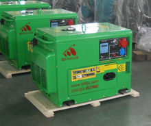 CE Approved 8KW Portable silent diesel generator with both hand and electric start