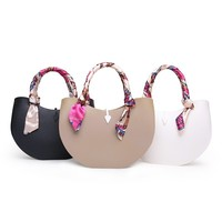 Fashion cute and scarf silicone girls round candy bag promotion
