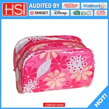 BSCI factory price unique pvc covered canvas cosmetic bag