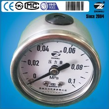 """1.5"""" 40mm all stainless steel back connection low pressure gauge manometer for customized"""