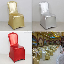 2015 new style metallic gold lycra chair cover