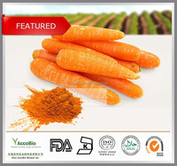 Toq quality Natural Carrot root Extract powder Beta carotene 1%-30%