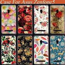 2015 hot Pattern Hard Cover Case For asus zenfone 5 diy painted beautiful flowers Back Cases 3D Fashion cover