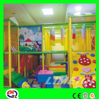 Happy paradise children play inflatable jumping balloons show jumping jumps