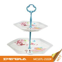 Chaozhou New Bone China Serving Plate with Cake Design