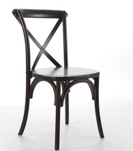solid wood cross back chair,crossback wood restaurant dining chair,Popular Wholesale Resin rattan X CrossBack Chair