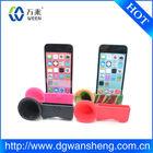 2013 chifre suporte de colunas silicone/megáfono de silicona para iphone 5c