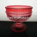 venta caliente de color rosa de cristal de hielo taza de crema